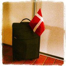 valigia bandiera danese viaggi